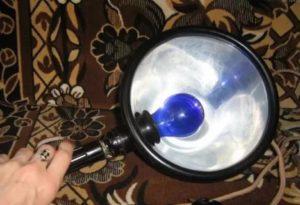 Сколько греть нос синей лампой