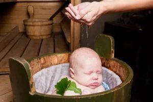 Новорожденный в бане с какого возраста