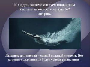 Объем легких у пловцов