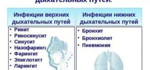 Заболевания верхних дыхательных путей у детей
