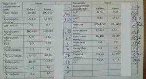 Анализ крови при гайморите показатели