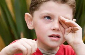 У ребенка болят глаза от света