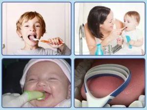 Как чистить язык новорожденному содой