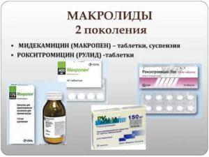 Антибиотики макролиды нового поколения