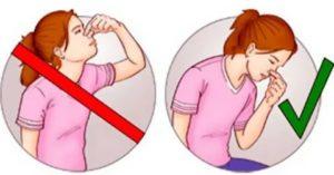Как остановить кровь из головы