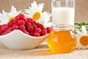Мед и малина при температуре
