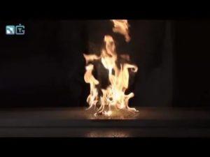 Ацетон горит