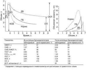 Спирография при бронхиальной астме заключение