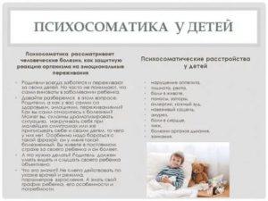 Сопли у ребенка психосоматика