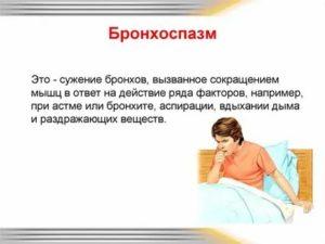 Спазм дыхательных путей симптомы