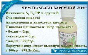 Растирание барсучьим жиром при кашле