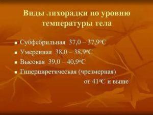 Фебрильная и субфебрильная температура