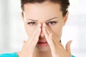 Болит щека под глазом и заложен нос