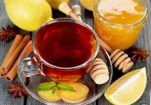 Чай с мёдом на ночь