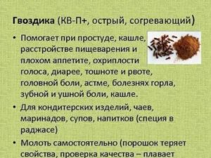 Гвоздика от кашля рецепт