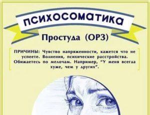 Постоянные простуды психосоматика