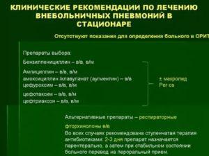 Внебольничная пневмония клинические рекомендации