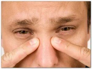 Болит лоб над переносицей