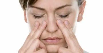 При насморке болит под глазом