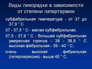 Фебрильные цифры температуры