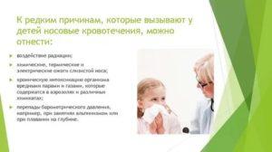 Кровь из носа при температуре у ребенка