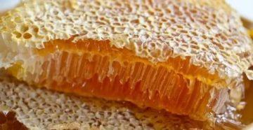 Как кушать мед в сотах
