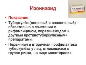 Изониазид для профилактики туберкулеза