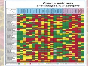 Таблица чувствительности микроорганизмов к антибиотикам