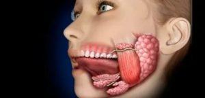 Боль под языком слева