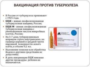 Прививка от туберкулеза сколько действует
