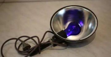Как пользоваться синей лампой для прогревания